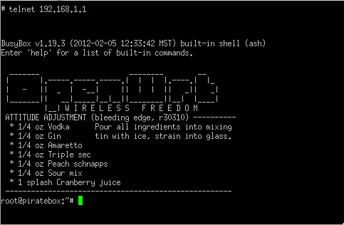 PB-openwrt-telnet